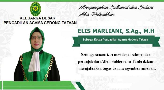 Selamat dan Sukses Atas Pelantikan Elis Marliani, S.Ag, M.H.